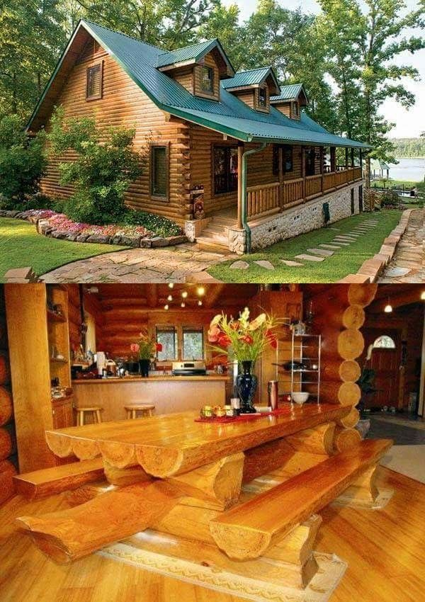 Caba a de troncos bolas de espinaca casas de troncos - Casas rurales de madera ...