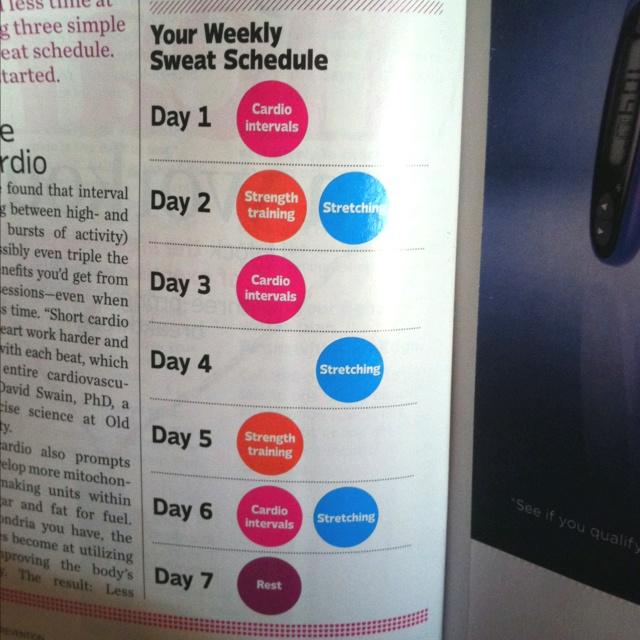 Best 25+ Weekly workout schedule ideas on Pinterest Workout - weekly workout plan