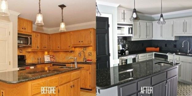 Paint your cabinets to give your kitchen that just-remodeled feeling for pennies versus what it would cost to replace them. | 27 Cheap Ways To Upgrade Your Home