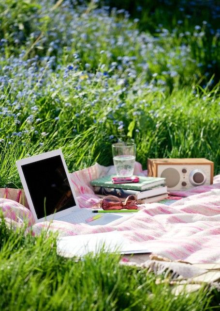 Well, i have to admit a picknick or studying outside looks and sounds more comfortable then it actually is :)