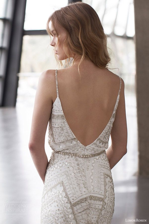 limor rosen 2015 alice sleeveless embellished wedding dress spaghetti straps close up view back urban dreams
