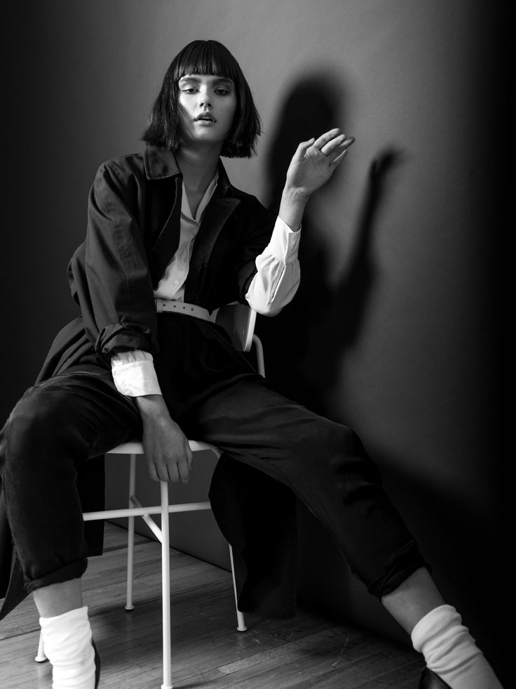 Afteroom chair - fashion shoot by Benjamin Holtrop