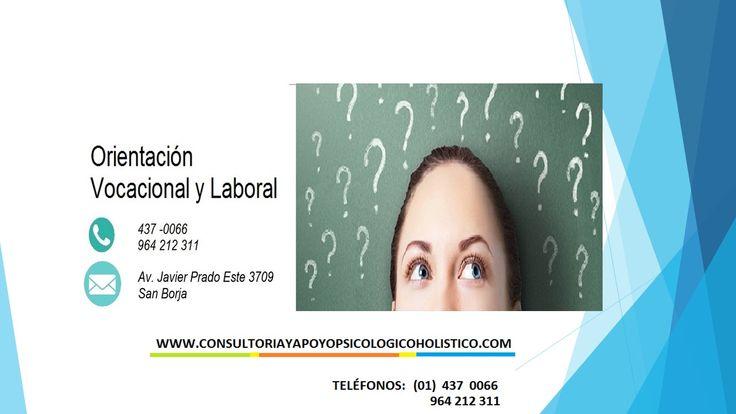 Orientación vocacional en Lima Perú