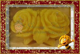 Beeswax Double Rose Candle