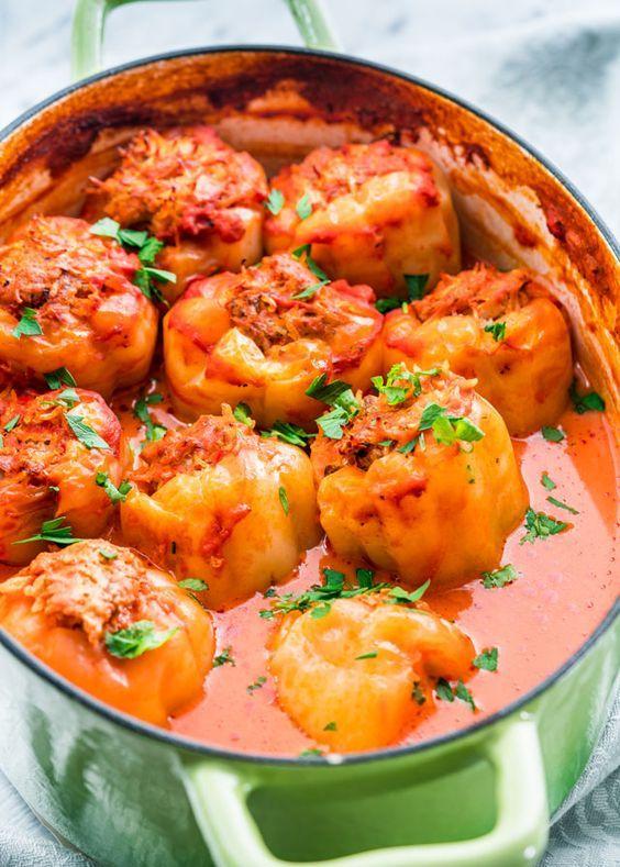 Rumänische gefüllte Paprika (Ardei Umpluti)