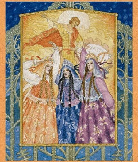 The Zorya - Slavic Goddesses of Time. The Zorya control the flow of time, and protect the world from evil and Armageddon. They represent day and night as well as the past, present, and future. Though historically the goddesses began as a duality with Zorya Utrennyaya (morning) and Zorya Vechernyaya (evening), over the years they have evolved into a triad to include Zorya Polunchnaya (midnight), which is said to be due to Neil Gaiman's...