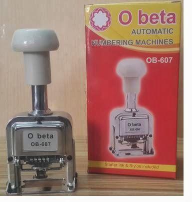 RAJ STATIONERS: Obeta ( O beta) Automatic Numbering machine, obeta numbering machines numbering machine in india quality numbering machine
