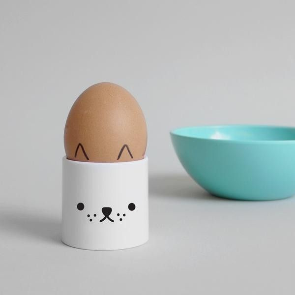 Little Pup Egg Cup By (8.49 CAD) ❤ liked on Polyvore featuring home, kitchen & dining, dinnerware, bird dinnerware, rabbit dinnerware, dishwasher safe dinnerware, plastic dinnerware and bear dinnerware