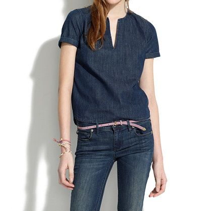 Denim Tee - shirts & tops - Women's NEW ARRIVALS - Madewell