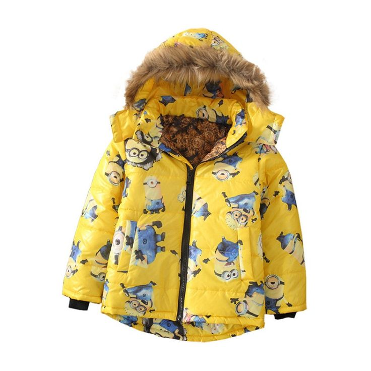 High quality Nov 11 Minions Boys Winter Coat Thick Warm Hooded Parkas jacket for boys For 3-10Y Children clothes 1111 sale #>=#>=#>=#>=#> Click on the pin to check out discount price, color, size, shipping, etc. Save and like it!