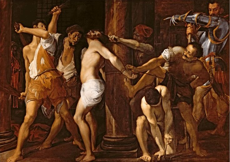 Ludovico Carracci--The flagellation of Christ (1586-87)