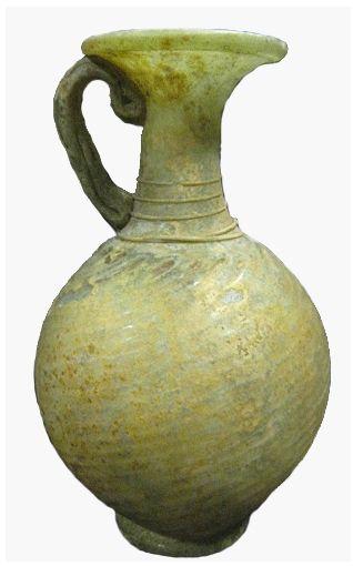 Roman Glass Jug Origin: Mediterranean Circa: 1 st Century AD to 3 rd Century AD