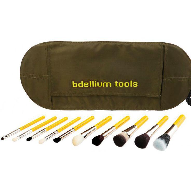 bdellium Tools Travel Line Mineral 10pc. Brush Set