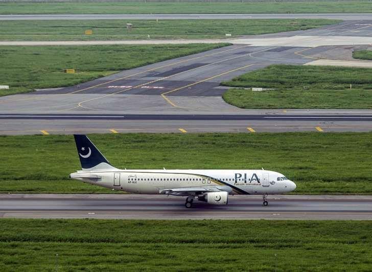 Toestel Pakistan International Airlines.