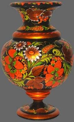 Russian Khokhloma | The russian folk art-Khokhloma-Plentitude
