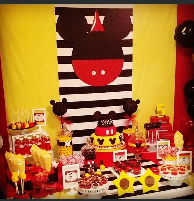 Amazing Mickey Mouse Party.  See more party ideas at CatchMyParty.com.  #mickeymousepartyideas