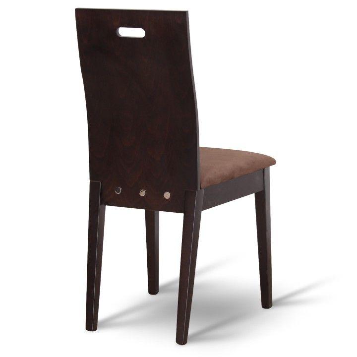 TEMPO KONDELA ABRIL jedálenská stolička - wenge / tmavohnedá