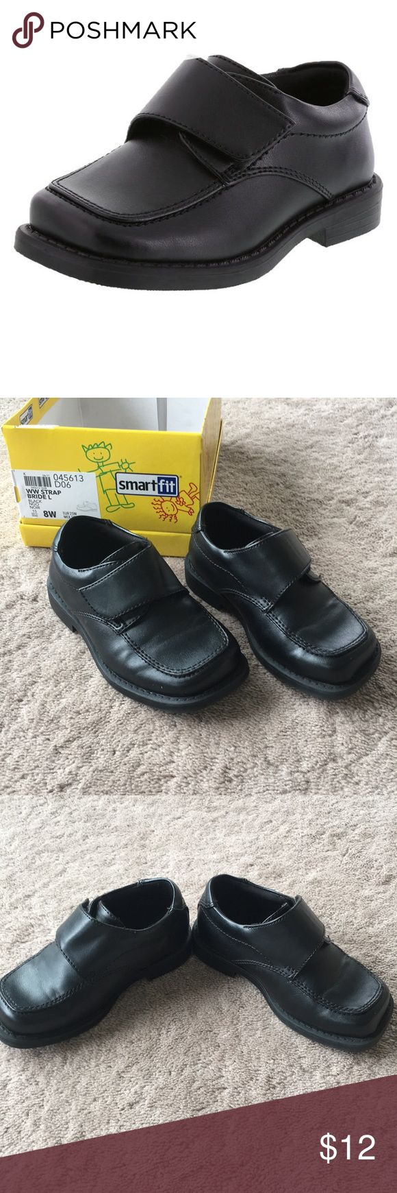 Toddler Dress Shoes Perfect for any special occasion! Worn once to a wedding - in EUC. Size 8 Wide. My son doesn't usually need wide, so I think these just run slightly more narrow. Smartfit Shoes Dress Shoes