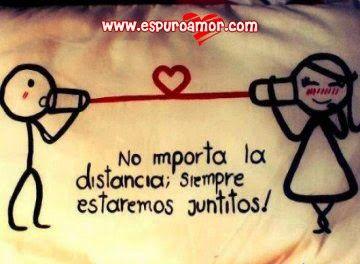Imagen de amor con frase para un amor a distancia - http://espuroamor.com/2014/05/imagen-de-amor-con-frase-para-un-amor-a-distancia.html #Frasesdeamor, #Frasesdeamoradistancia