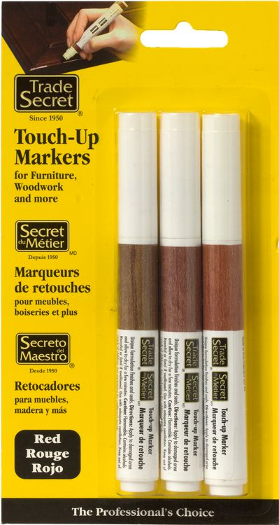 Trade secret touch up system for wood