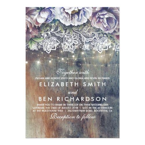 1590 best navy blue wedding ideas images on pinterest navy blue blue purple and plum vintage floral lace wedding card stopboris Images