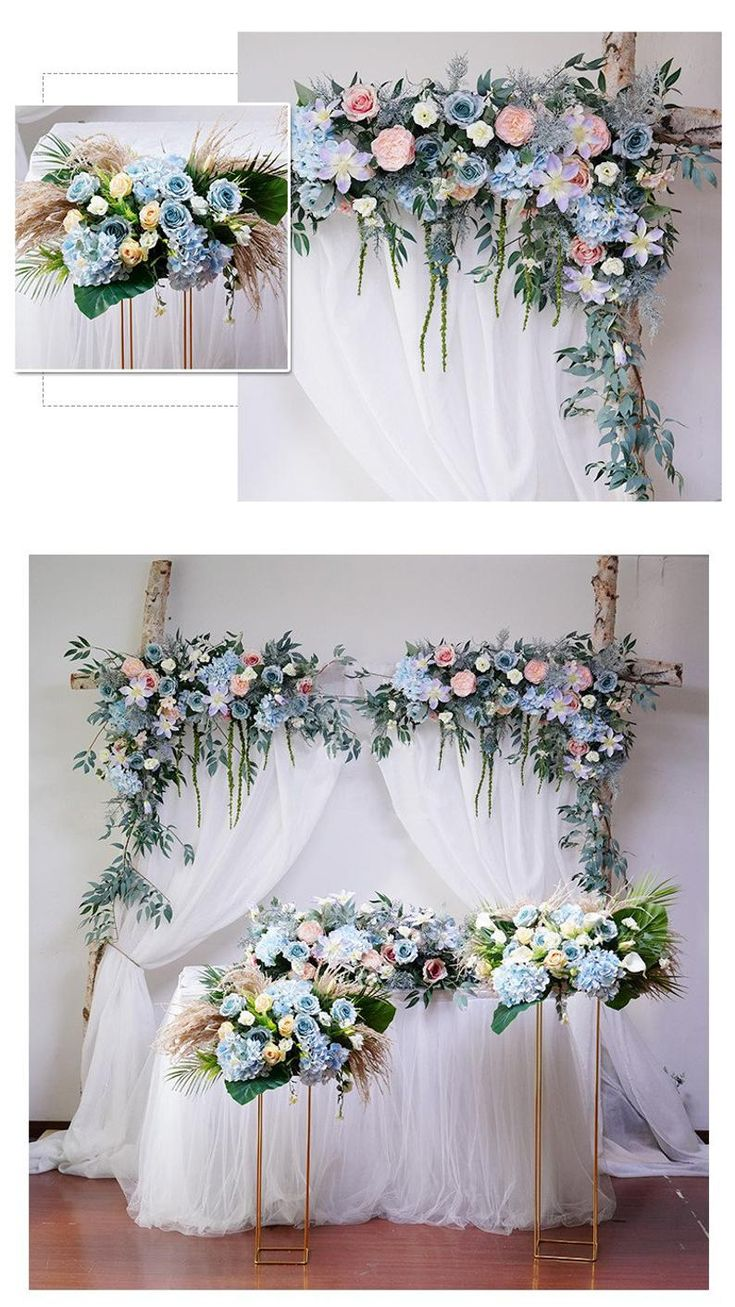 Wedding home artificial silk fake flowers swag arch Etsy