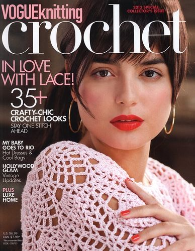 MAGAZINE: Vogue Knitting Crochet 2013 ♥LCB-MRS♥ no diagrams, all written patterns. But is a treat to all whom like to read patterns. Enjoy it.