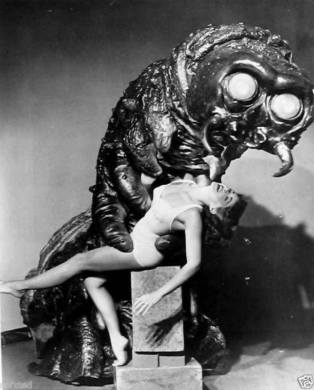 Publicity still for The Monster that Challenged the World (1957).
