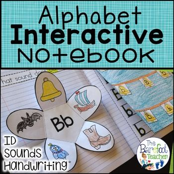 Back to School - Alphabet ID & Sounds Interactive Notebook Students will practice identifying, sorting,writing both upper and lower case letters, and producing sounds in this fun, engaging, and absolutely adorable Alphabet Interactive Notebook Complete Set.
