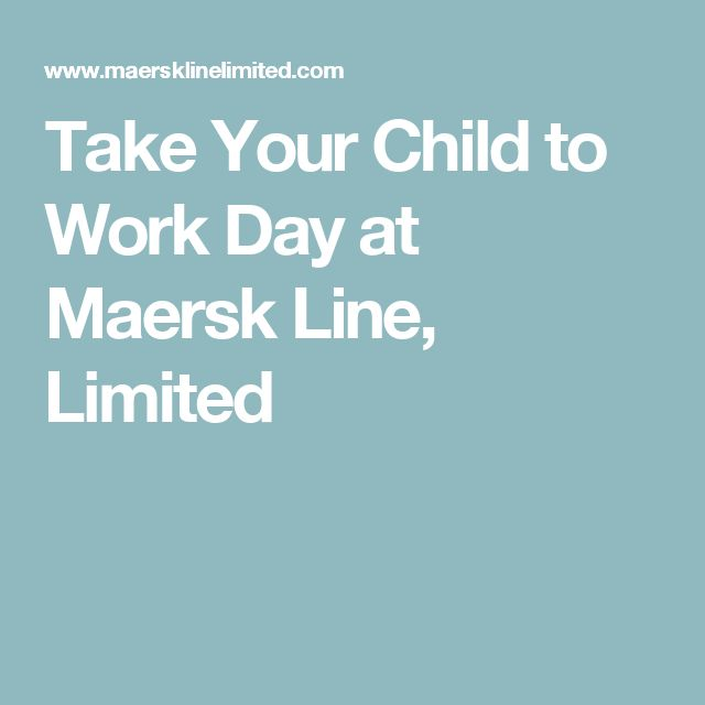 Take Your Child to Work Day at Maersk Line, Limited