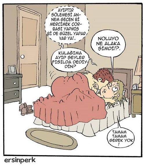 Kulağıma Ayıp Şeyler Fısılda Karikatürü Ersin Perk