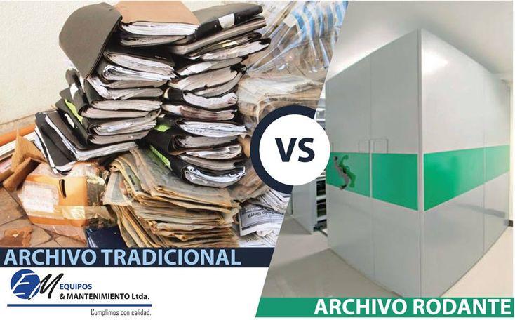 Archivo tradicional vs Archivo Rodante – Equipos y Mantenimiento