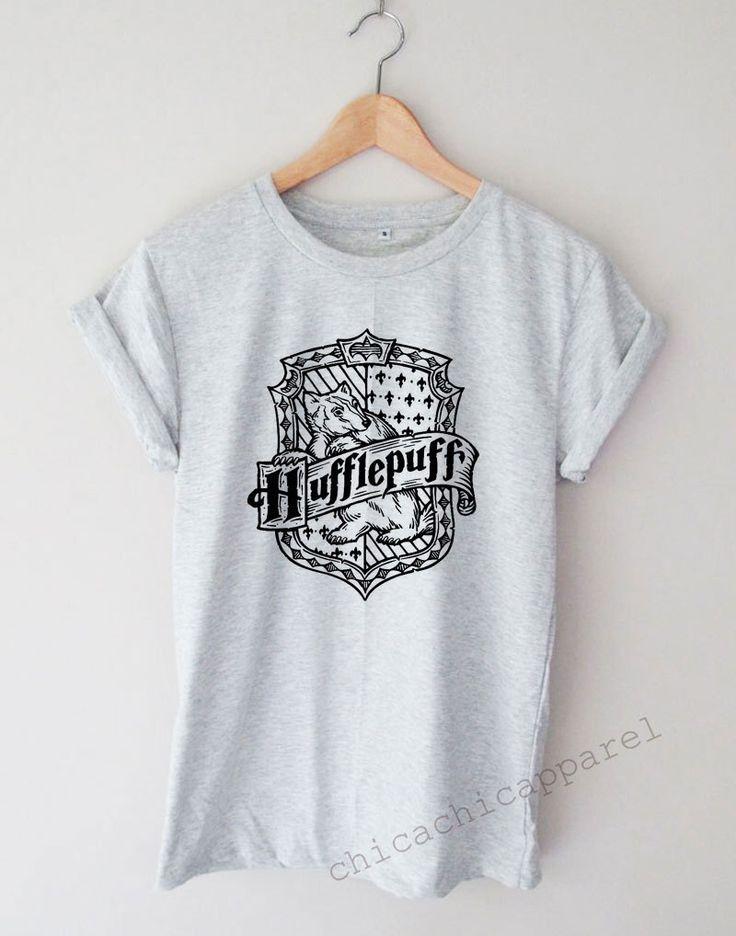 Hufflepuff Crest Logo Shirt Tumblr Hipster T-shirt Unisex S,M,L,XL Size by chicachicapparel on Etsy https://www.etsy.com/listing/449444578/hufflepuff-crest-logo-shirt-tumblr