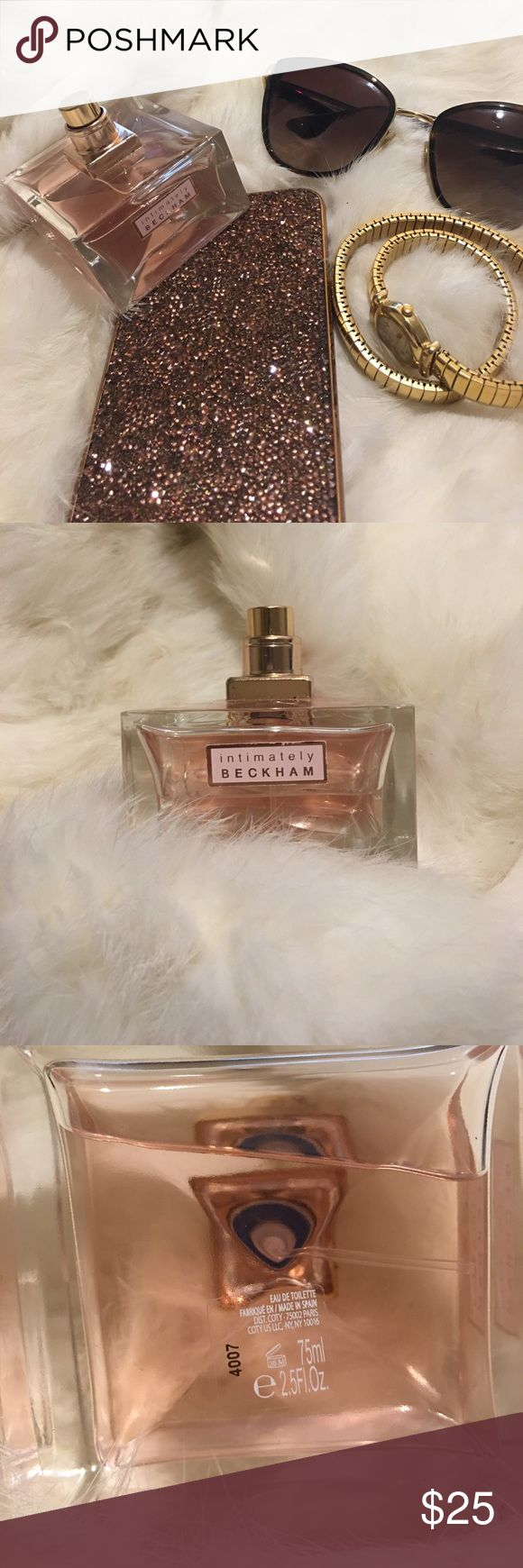 Victoria Beckham Intimately Beckham Perfume 2.5fl Preowned good condition, authentic, damage on bottle, missing cap and no box. Full size 2.5fl. oz bottle. It is a Eau De Toilette. Please read description, comments, see pictures and ask questions before purchase. Check out my other items, and bundle to save! Victoria Beckham Accessories