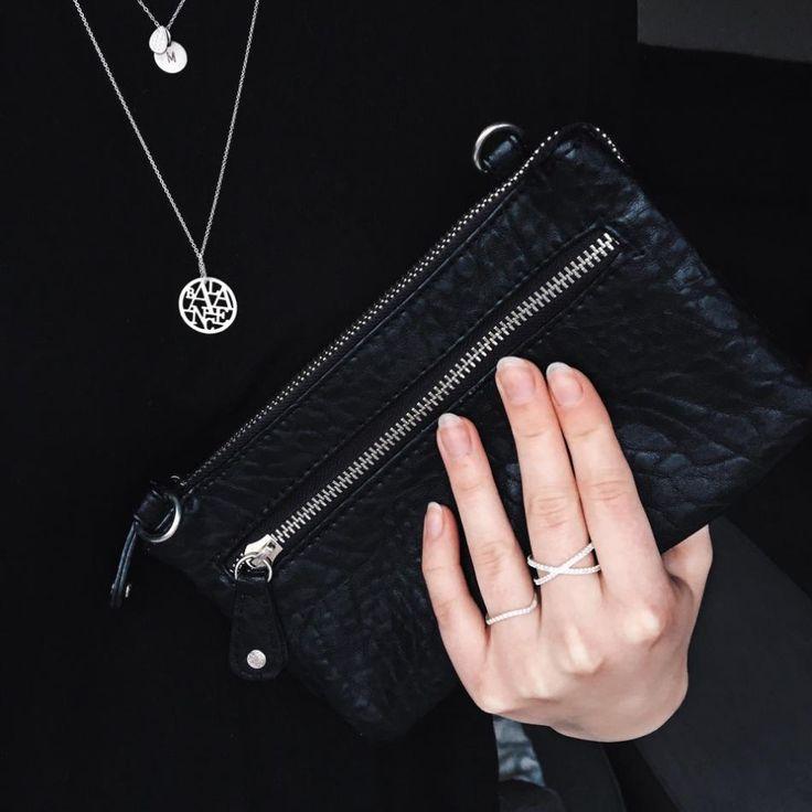 Styling by pernillelorup showing Cross Zirconia ring Silver and Wave Zirconia Ring Silver #jewellery #Jewelry #bangles #amulet #dogtag #medallion #choker #charms #Pendant #Earring #EarringBackPeace #EarJacket #EarSticks #Necklace #Earcuff #Bracelet #Minimal #minimalistic #ContemporaryJewellery #zirkonia #Gemstone #JewelleryStone #JewelleryDesign #CreativeJewellery #OxidizedJewellery #gold #silver #rosegold #hoops #armcuff #jewls #jewelleryInspiration #JewelleryInspo #accesories…