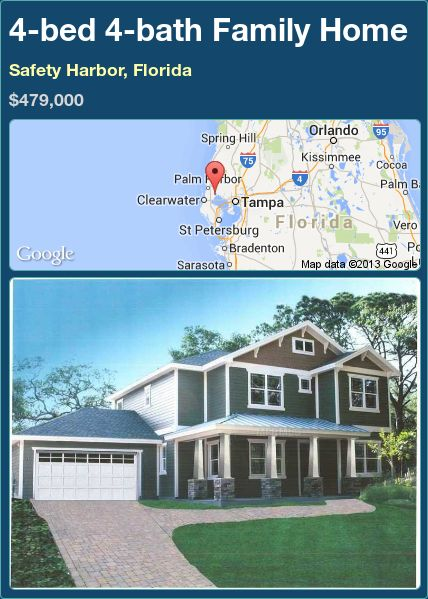 4-bed 4-bath Family Home in Safety Harbor, Florida ►$479,000 #PropertyForSale #RealEstate #Florida http://florida-magic.com/properties/88668-family-home-for-sale-in-safety-harbor-florida-with-4-bedroom-4-bathroom