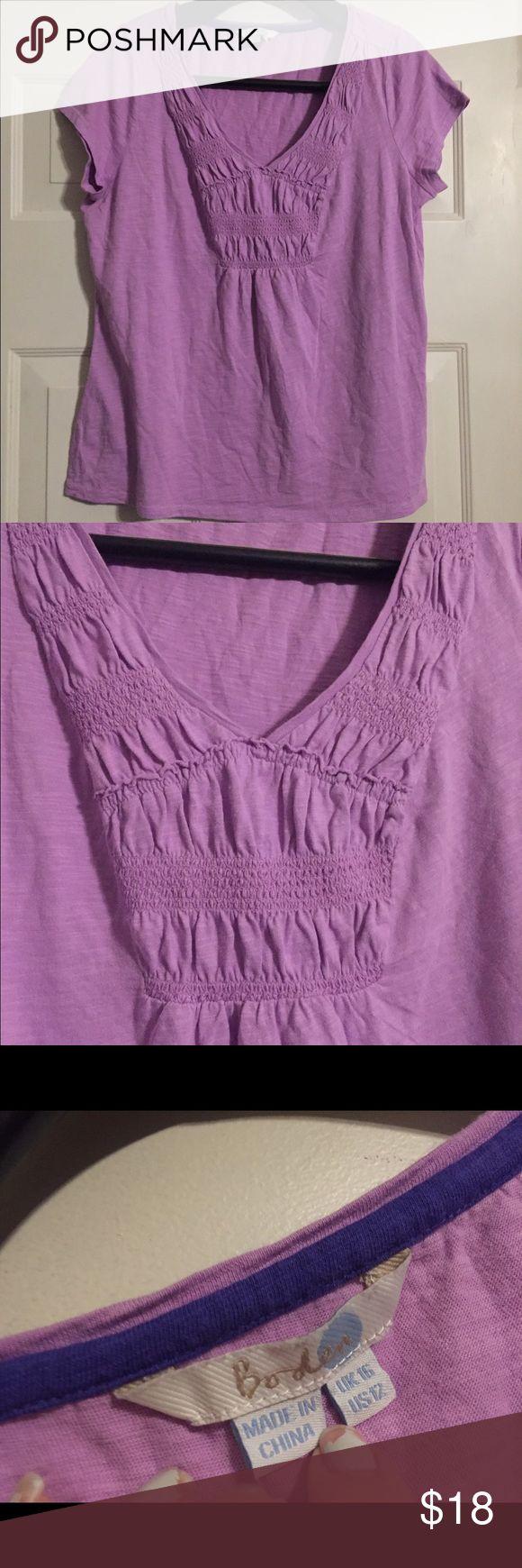 Boden lavender size 12 shirt. EUC WB-100 Smoke and pet free home. Bundle discount 20% Boden Tops
