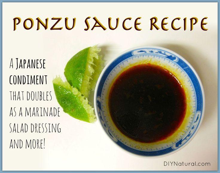 Ponzu Sauce Recipe – A Japanese Condiment & More