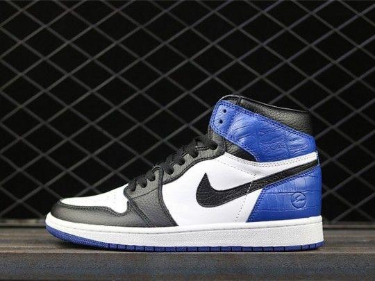 61811564ff3db8 Air Jordan 1 x Fragment 13 shoes Black Sport Royal 716371-040