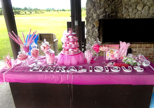 Pinkalicious theme candy table