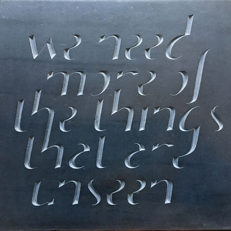 'Kindness'   Hand designed and carved letting in Welsh Slate  By Zoe Wilson