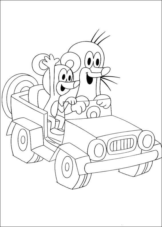 Krtek The Little Muldvarpen Tegninger til Farvelægning. Printbare Farvelægning for børn. Tegninger til udskriv og farve nº 1