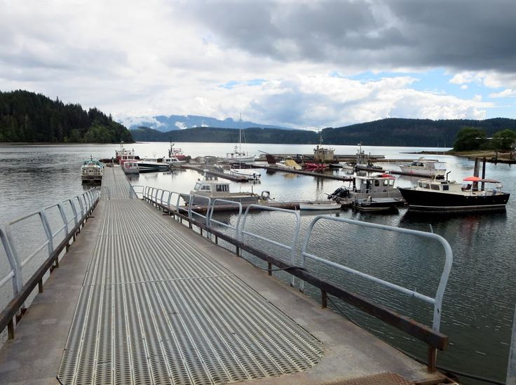 Coal Harbour on Holberg Inlet just south of Port Hardy, Vancouver Island, British Columbia, Canada, provides access to Quatsino Sound and the open Pacific.