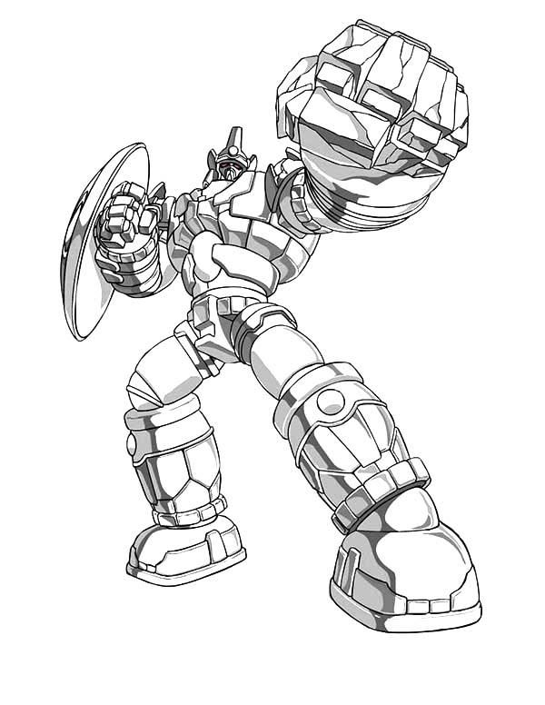 Bakug Bakugan Strong Punch Coloring Pages Coloring Pages