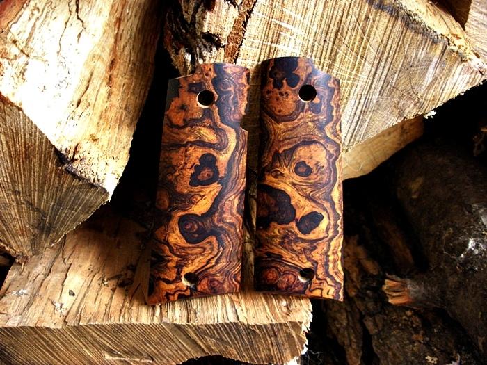 Brown's Custom Grips Satin finish desert ironwood burl