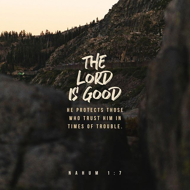 The Lord Is Good He Protects Those Who Trust Him In Times Of
