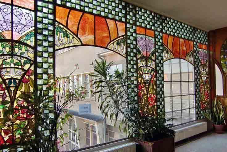art nouveau villa bergeret nancy 1901 int rieurs. Black Bedroom Furniture Sets. Home Design Ideas