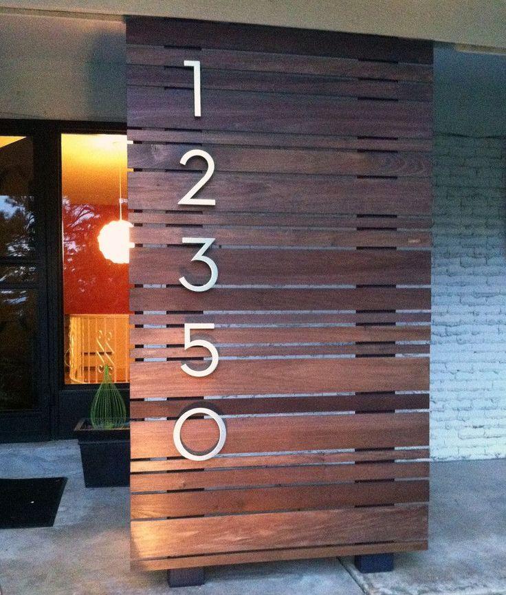Best 25+ House Numbers Modern Ideas On Pinterest
