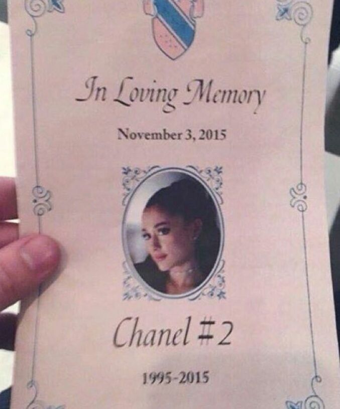 Chanel #2 it sucks she died first episode I dont watch it cause of that