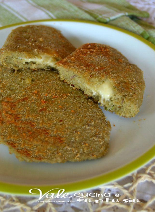 Cotolette con carciofi e formaggio ricetta facile